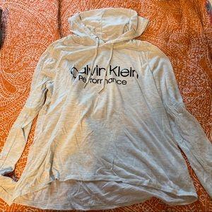 Calvin Klein Heather Gray Lightweight Hoodie